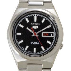 セイコー SEIKO セイコーファイブ SEIKO5 腕時計 自動巻き 逆輸入 SNKC55J1 ブラック メンズ P10SP