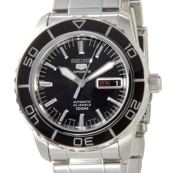 セイコー SEIKO メンズ腕時計 SNZH55J1 ブラック×シルバー 【カード決済可】【YDKG-m】 新品