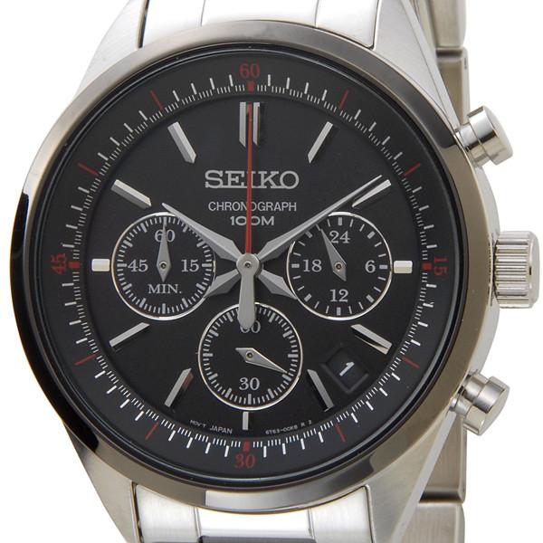 セイコー SEIKO 腕時計 ssb063p1 クオーツ クロノ メンズ ブラック セイコーウオッチ 新品 【送料無料】 [ポイント5倍キャンペーン][8/3~8/17]