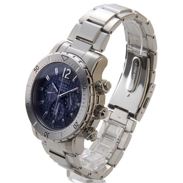 S Select Seiko Solar Chronograph Watch Seiko Ssc221p1 Solar Navy X