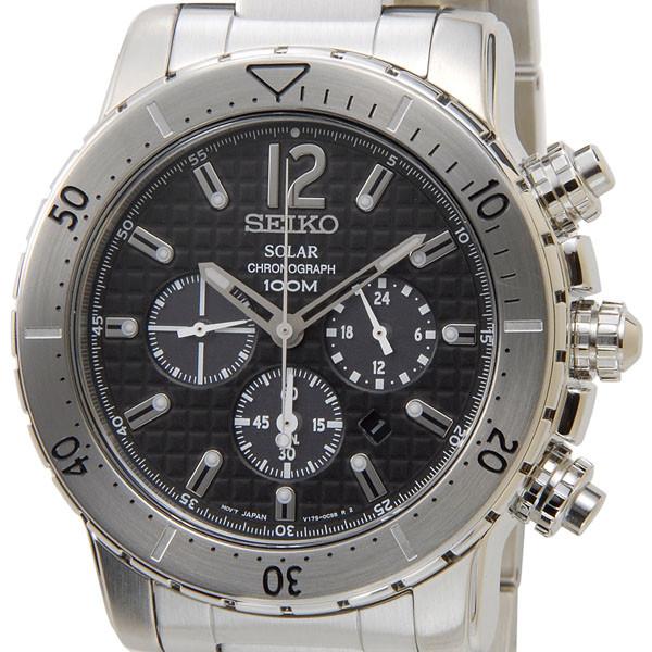 S Select Seiko Solar Chronograph Watch Seiko Ssc993p1 Solar Black X