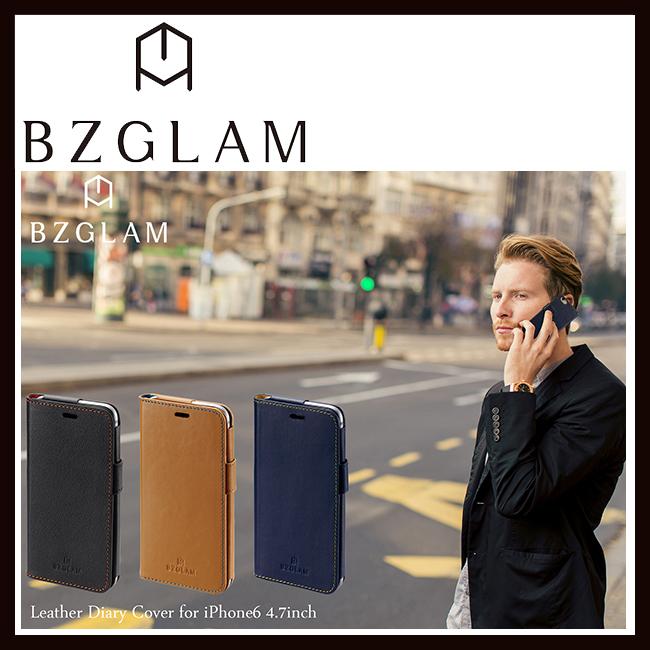 iPhone6s 新作 大人気 送料無料限定セール中 iPhone6 ケース BZGLAM ビズグラム iBZ6-C11 レザーダイアリーカバーiBZ6-C10 iBZ6-C12 サンクレスト