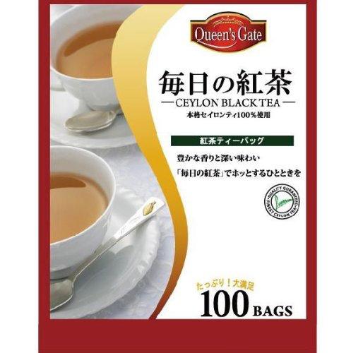 お客さま感謝セール 大好評につき激安特価延長 ポイント5倍キャンペーン実施中 激安 激安通販ショッピング 紅茶 Queen's ティーバッグ 毎日の紅茶 Gate 100パック 半額 セイロンティー