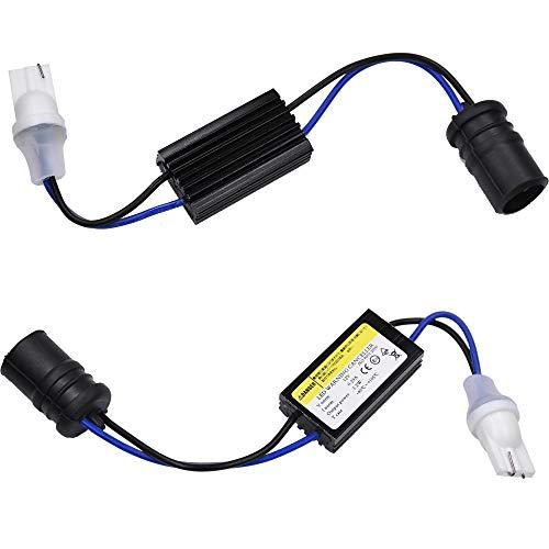 サイズ:t10 球切警告灯 YUNPICAR T10 送料無料でお届けします W5W 送料無料/新品 ワーニングキャンセラー t10 2個 ウエッジソケット 内蔵 12V