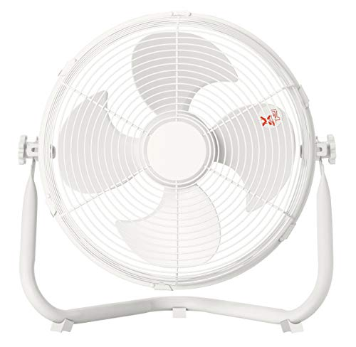 山善 扇風機 30cm 床置き ダイヤルスイッチ 無段階風量調節 手数料無料 4枚羽根 DCモーター搭載 YMY-D30 ホワイト 空気循環 換気 当店一番人気 W