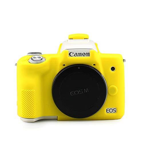 色:YL 百貨店 kinokoo CANON EOS 大注目 Kiss M M2 M50 カメラケース YL Mark シリコンカバー シンプル 2 カメラカバー デジタルカメラ専用
