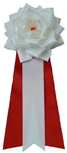 商店 記章リボンばら白 中 式典 超歓迎された 胸章 パーティ イベント 12個セット