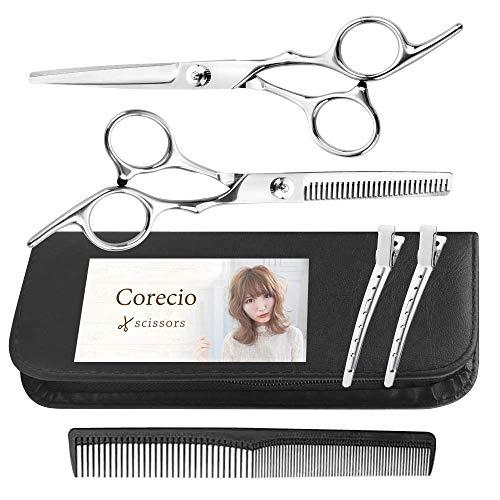 Corecio 価格 交渉 送料無料 散髪 はさみ セット 超定番 ステンレス製 調整してお届け セルフ ヘア ハサミ 美容 髪 カット すきバサミ キッズ 理容