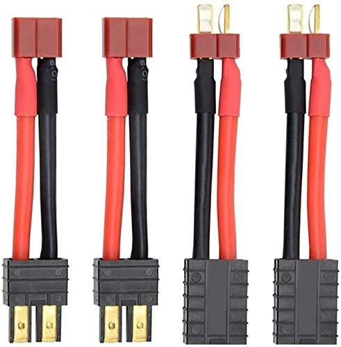 YLP 通常便なら送料無料 商店 4ピースRC Lipoバッテリー充電器変換ケーブルアダプターワイヤーTRXからディーンズTプラグコネクター