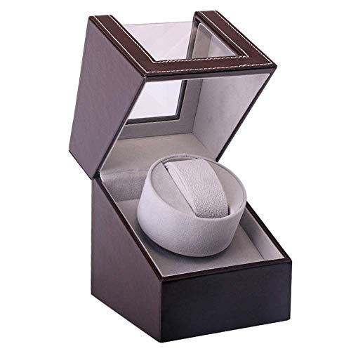 色:ブラウン 2021年最新版 ワインディングマシーン 1本巻き ウォッチワインダー 超静音設計 日本製 新型の腕時計自動巻き上げ オンラインショップ 自動巻き時計ワインディングマシーン マブチモーター 訳あり