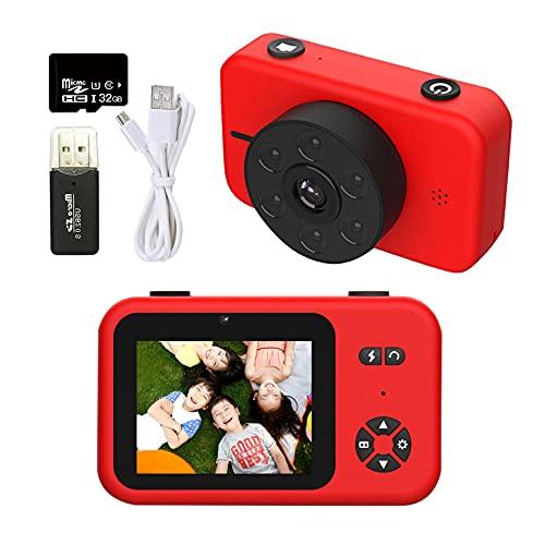 色:レッド 5000万画素 RONHAN 子供用 デジタルカメラ トイカメラ 子供用カメラ キッズカメラ 4KフルHD 2.4インチIPS画面 動画 連写 操作簡単 USB充電 超美品再入荷品質至上 写真 6LEDランプ搭載 タイマー撮影 耐衝撃性 MP3 サービス