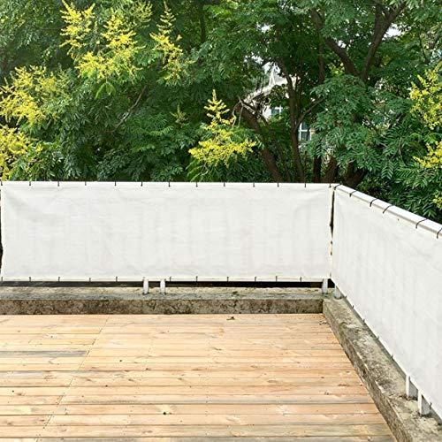 色:オフホワイト サイズ:3.6×1m SUNNY GUARDバルコニーシェード ベランダ目隠し オーニング3.6*1m オフホワイト