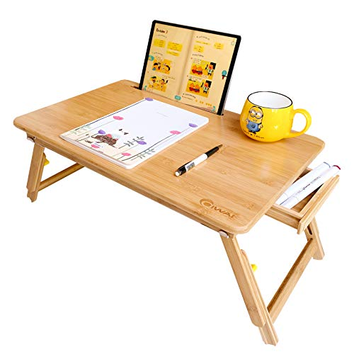 サイズ:55 35 新型B ノートパソコンデスク ベッドテーブル PCローテーブル ラップデスク 竹製 凹溝付き 折りたたみ 学 機能 タブレットスタンド セール価格 高さ調整 アイテム勢ぞろい ローテーブル 床置き 引き出し付き