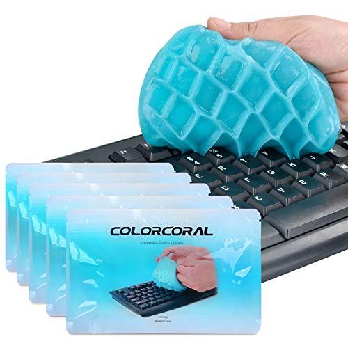 ColorCoral 粘着クリーナー キーボード 掃除 スライム 隙間 汚れ ホコリ取り 車内設備 お買い得 繰り返し 柔らかい 強力粘着 多用途 超人気 クリーナー 70g 藍 5