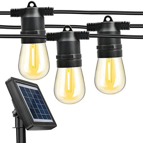 最新版2つ充電方式 PinShion ソーラー ストリングライト S14ストリングライト お気にいる イルミネーションライト 10個 8.2m 屋外 夜間自動点灯 室内対応 LED電球 IP65防水 特売