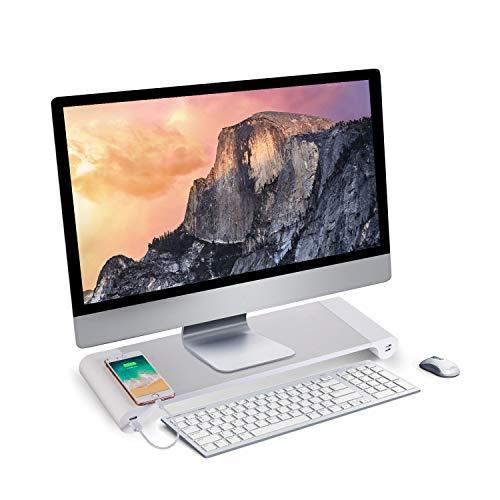 正規認証品 新規格 サイズ:TSZJ PG 机上台 モニタースタンド 4 USBポート付き キーボード収納 デスク 収納整理 アルミ合金製ブラケット セール価格 便利 卓上 TSZJ