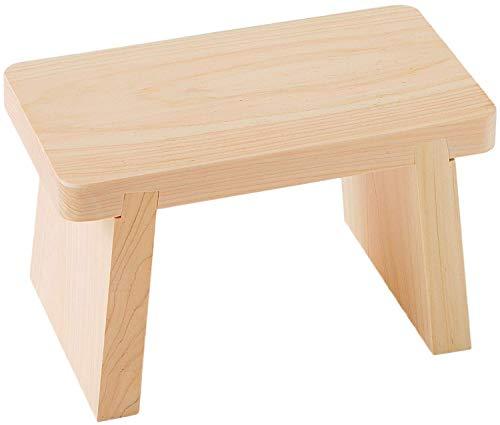 サイズ:小 池川木材 国産 桧 風呂いす 小 新着 27X15X16.5cm 至高