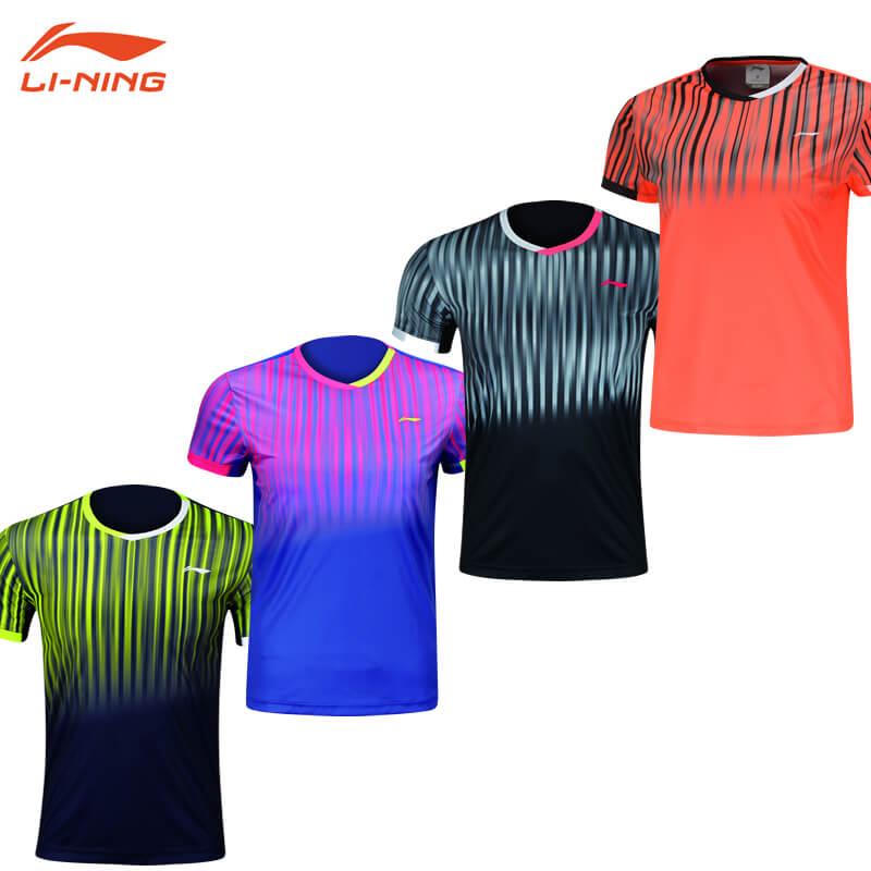 マーケティング LI-NING AAYM147 人気上昇中  ユニ ゲームシャツ リーニン メール便可 バドミントンウェア 日本バドミントン協会審査合格品