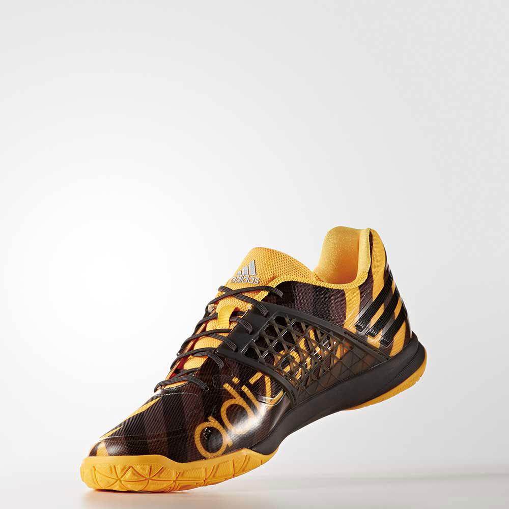 adidas BB4831 アディゼロ バドミントンシューズ(ユニセックス) ソーラーゴールド アディダス【日本バドミントン協会審査合格品/ 取り寄せ】