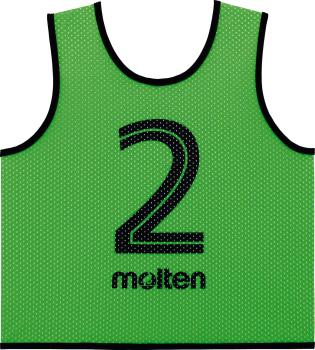 molten GS0112-KG ゲームベストGVジュニア10枚セット 蛍光グリーン オールスポーツ 設備・備品 モルテン 2018【取り寄せ】
