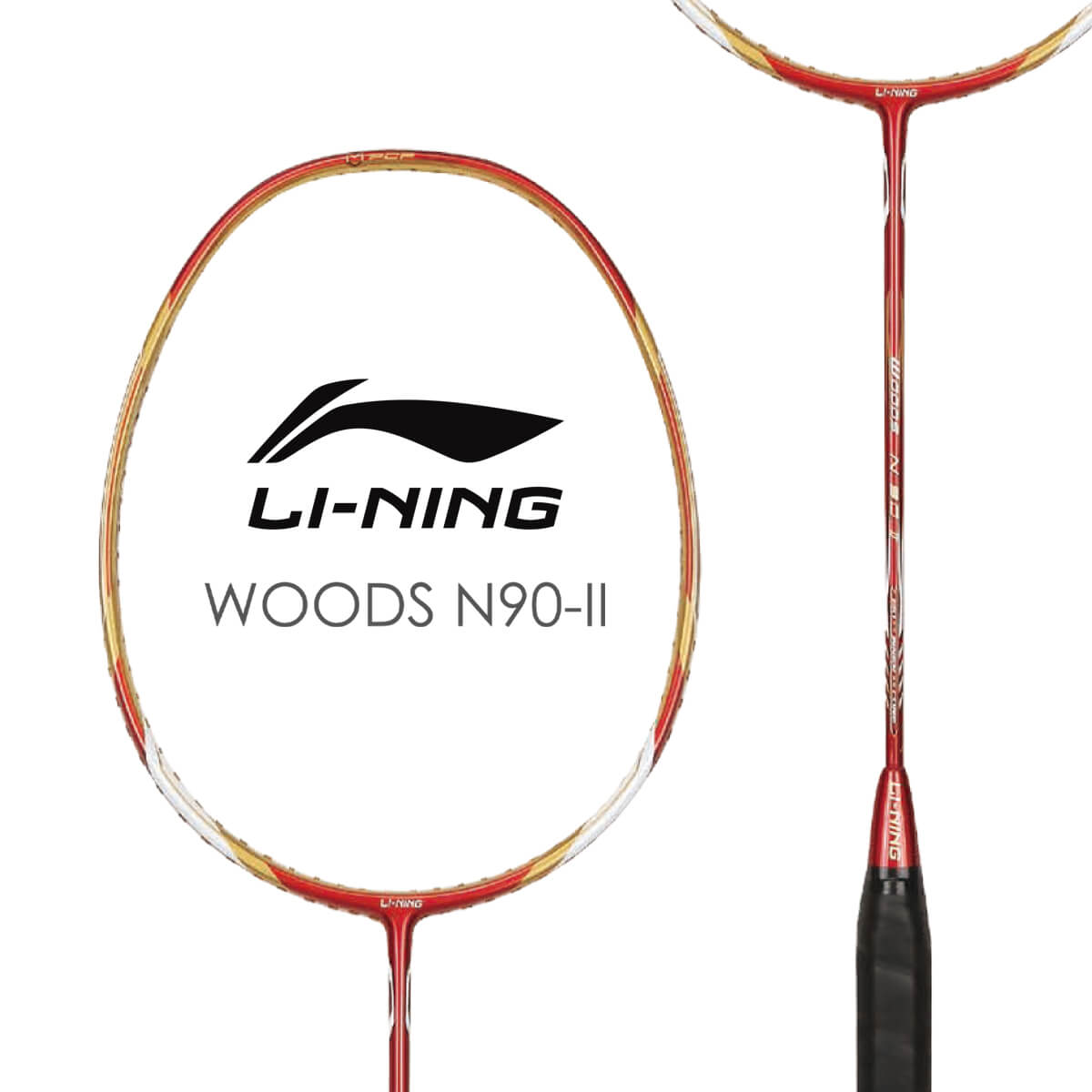 LI-NING Woods N90-II(林丹使用モデル) AYPE016-1 バドミントンラケット リーニン【オススメガット&ガット張り工賃無料】