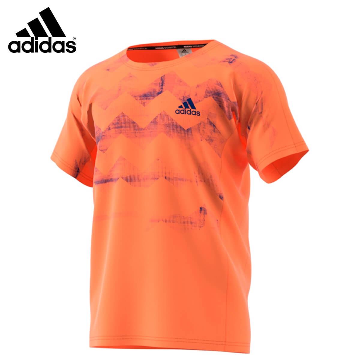 adidas CW7109 アディゼロ シャツ セミオレンジ バドミントンウェア アディダス 2018FW【取り寄せ】