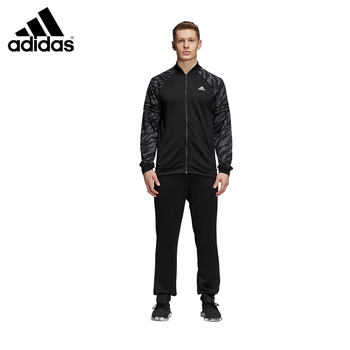 adidas CY2298 トラックスーツ MTS ジャージ上下セット ブラック バドミントンウェア アディダス 2018FW【取り寄せ】
