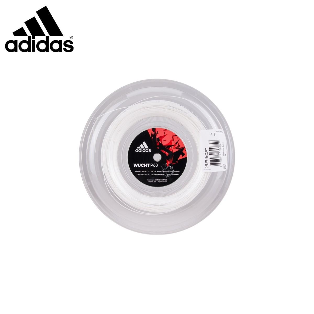 adidas ST646805 ヴフト P68 ホワイト ロール 200m バドミントンストリング(ガット) アディダス 2018FW【取り寄せ】