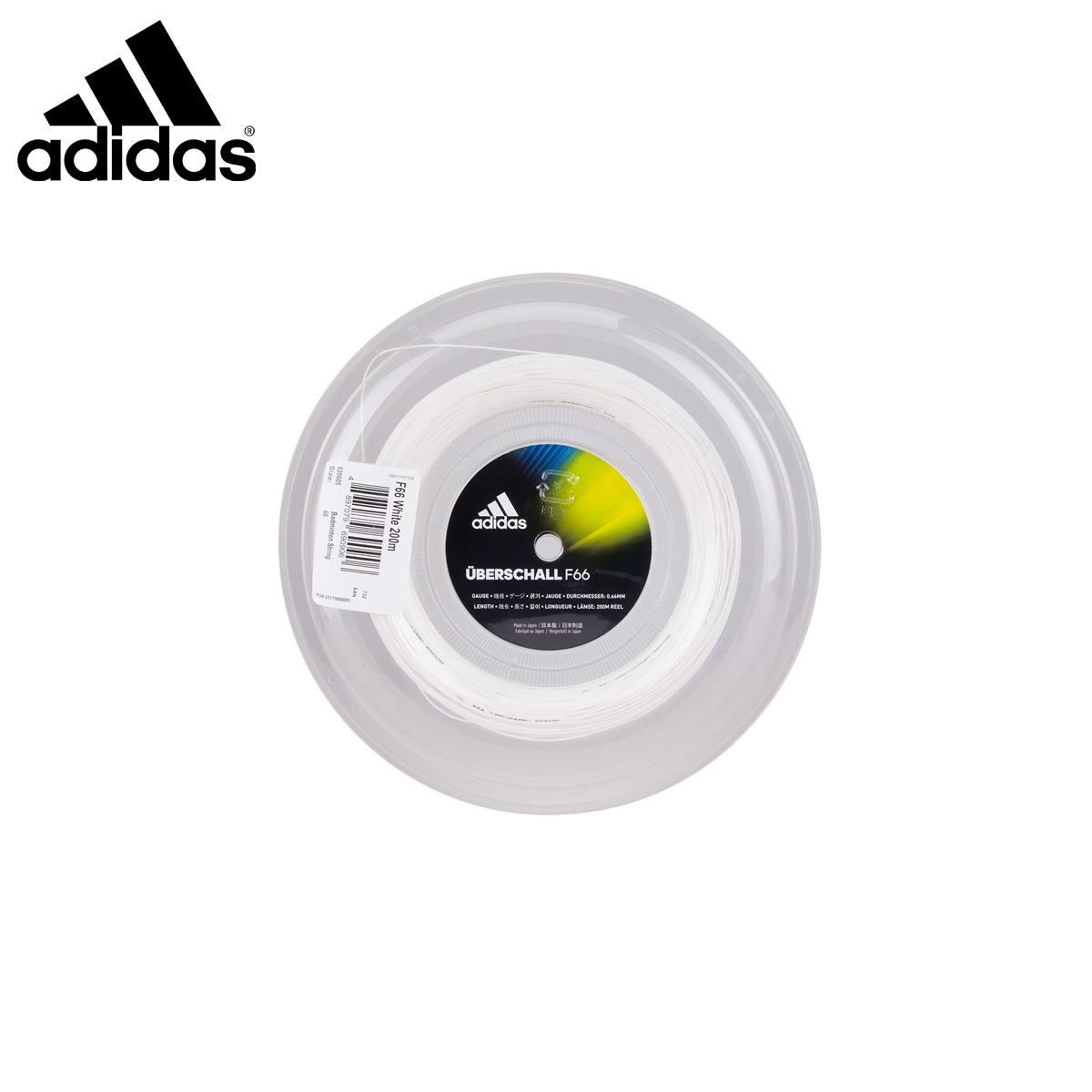 adidas ST826605 ウバシャル F66 ホワイト ロール 200m バドミントンストリング(ガット) アディダス 2018FW【取り寄せ】