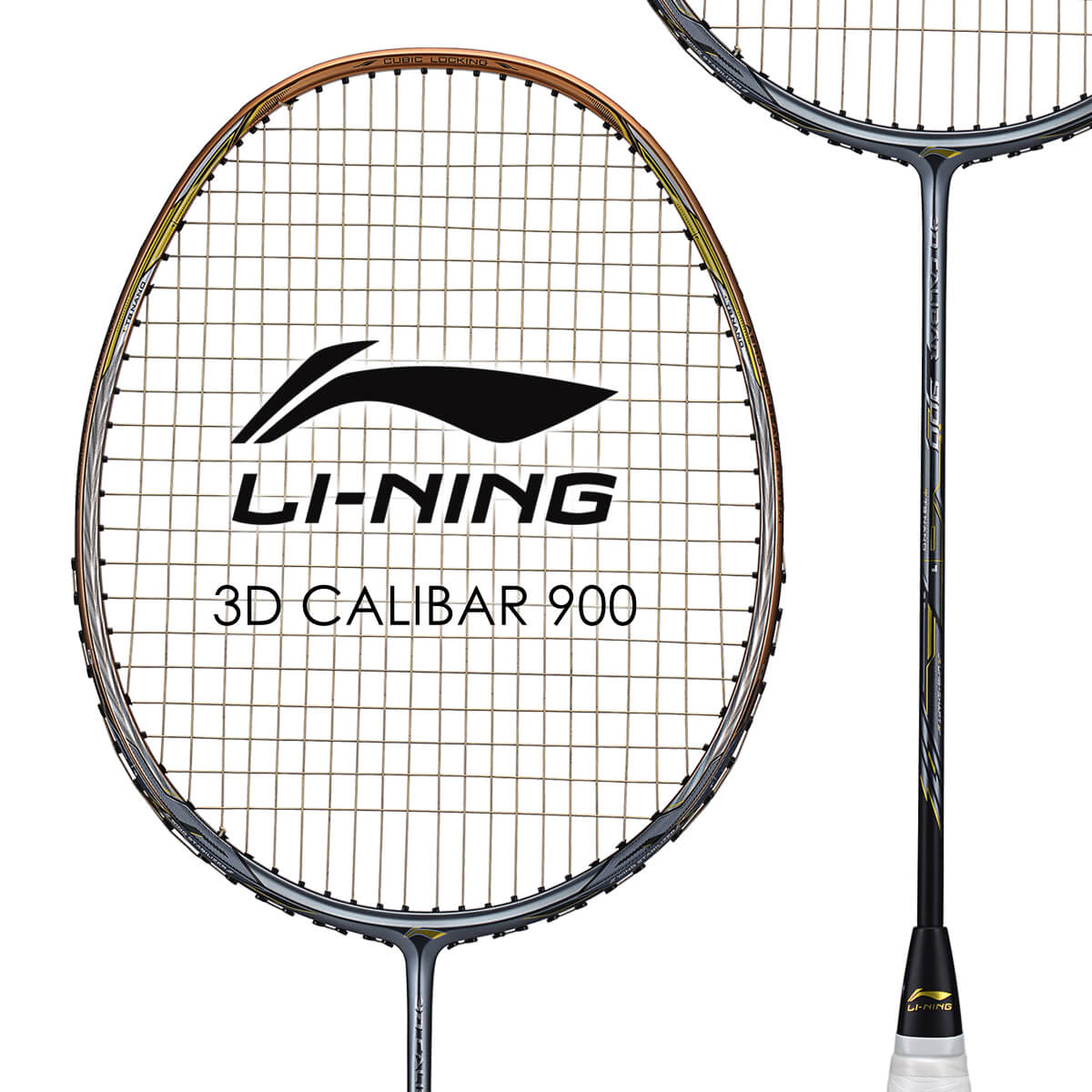 LI-NING 3D CALIBAR 900(3D-C900) 立体風刃 AYPM426-1 バドミントンラケット リーニン【オススメガット&ガット張り工賃無料/ 日本バドミントン協会審査合格品】