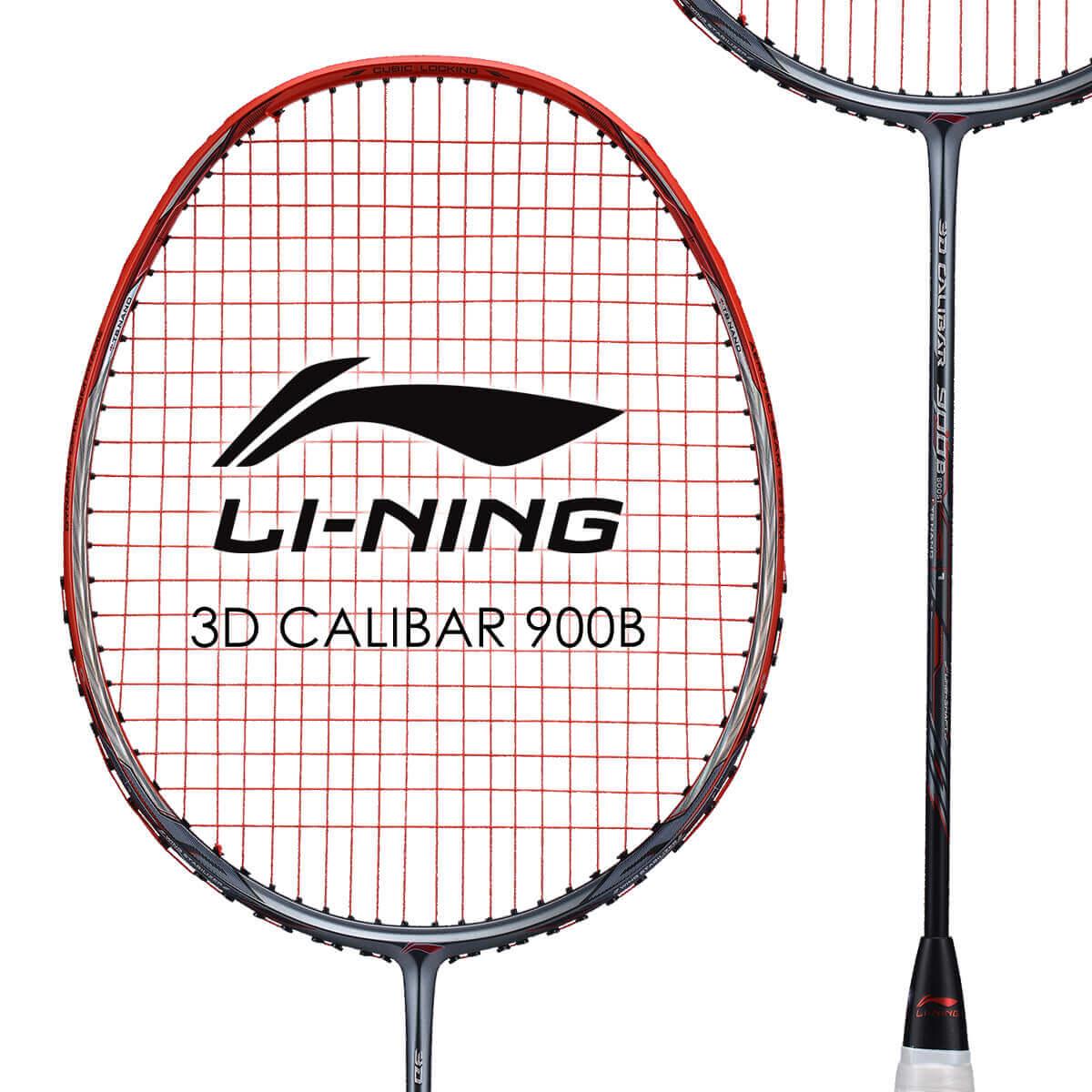 LI-NING 3D CALIBAR 900B(3D-C900B) 立体風刃 AYPM428-1 バドミントンラケット リーニン【オススメガット&ガット張り工賃無料/ 日本バドミントン協会審査合格品】