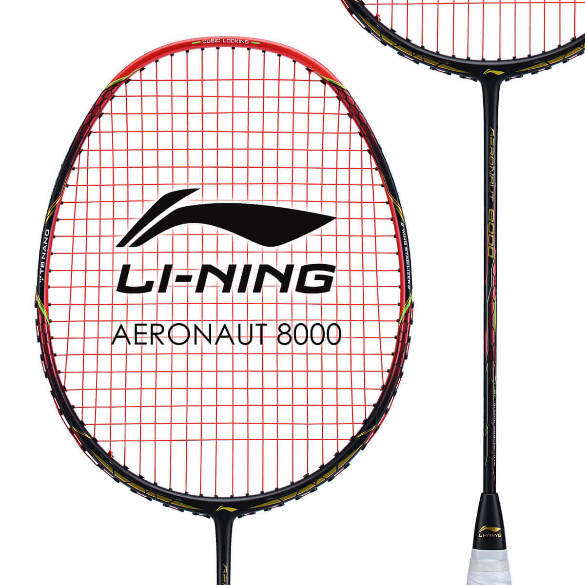 LI-NING AERONAUT 8000(AN8000) 風洞設計 AYPN218-1 バドミントンラケット リーニン【オススメガット&ガット張り工賃無料/ 日本バドミントン協会審査合格品】
