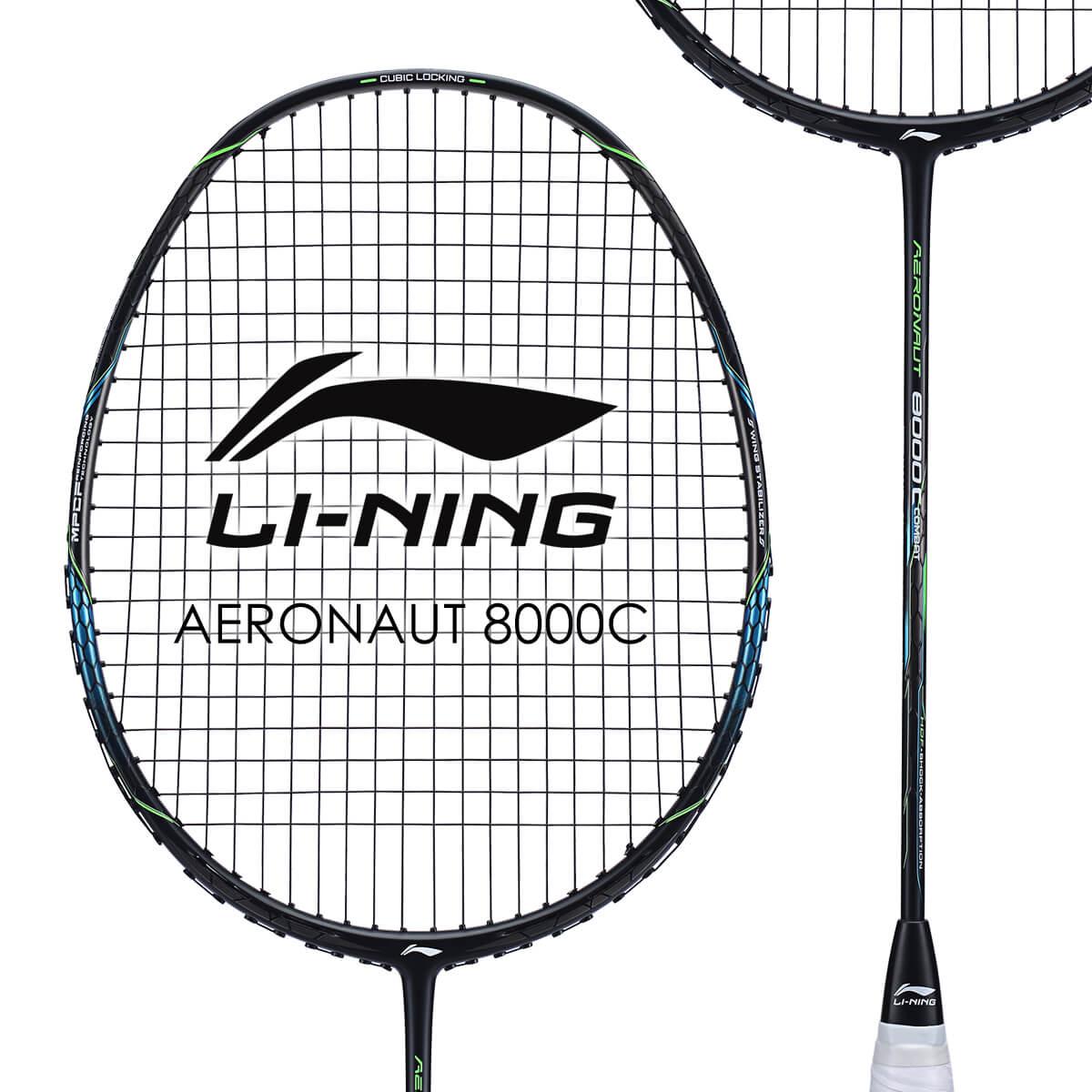 LI-NING AERONAUT 8000C(AN8000C) 風洞設計 AYPN216-1 バドミントンラケット リーニン【オススメガット&ガット張り工賃無料/ 日本バドミントン協会審査合格品】