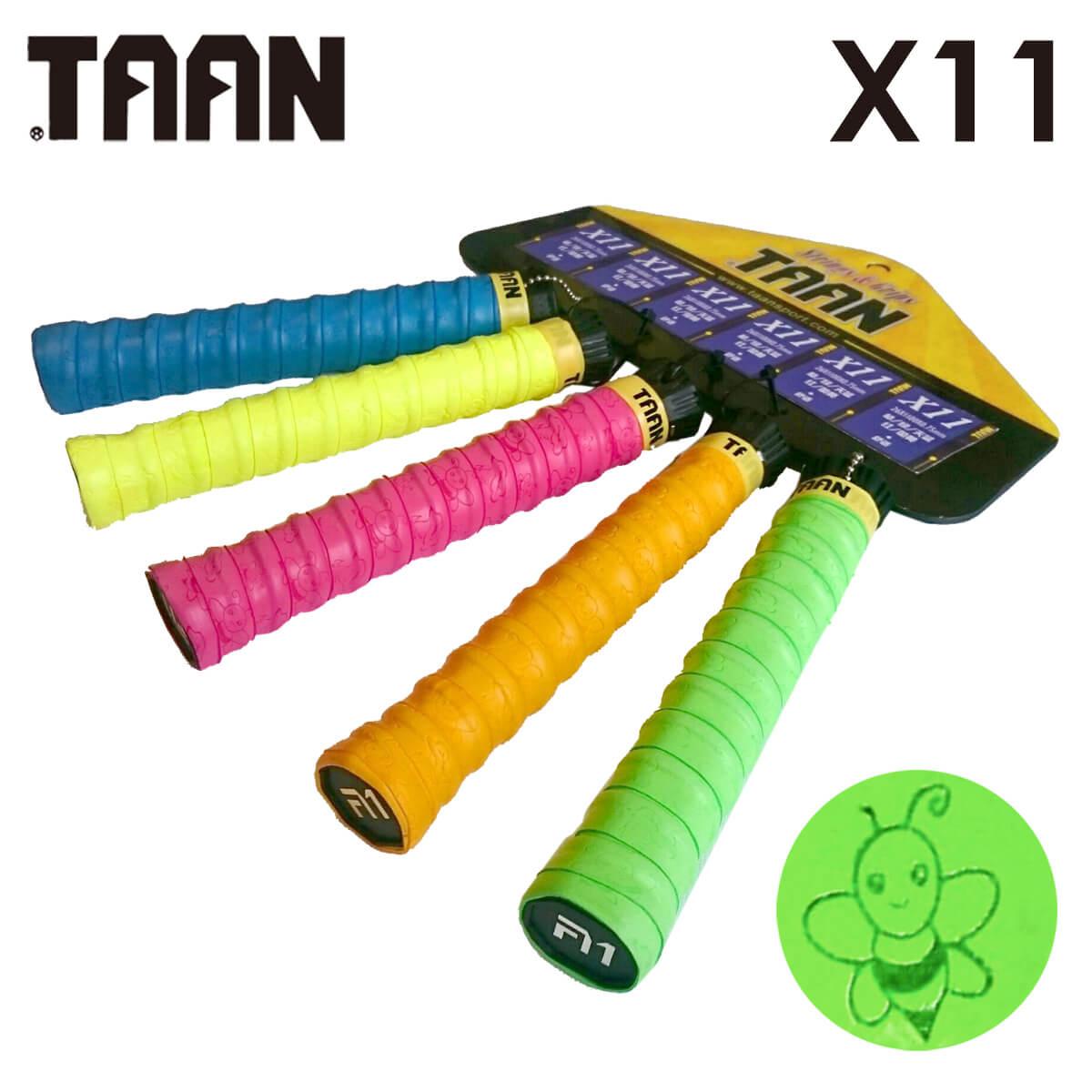 TAAN X11 デコボコウェットグリップ(蜂 はち) グリップテープ バドミントン・テニス タアン TAAN X11 デコボコウェットグリップ(蜂 はち) グリップテープ バドミントン・テニス タアン【メール便可】