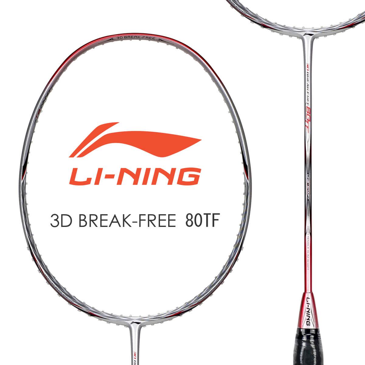 LI-NING 3D BREAK-FREE 80TF(AYPJ008) バドミントンラケット リーニン【オススメガット&ガット張り工賃無料】