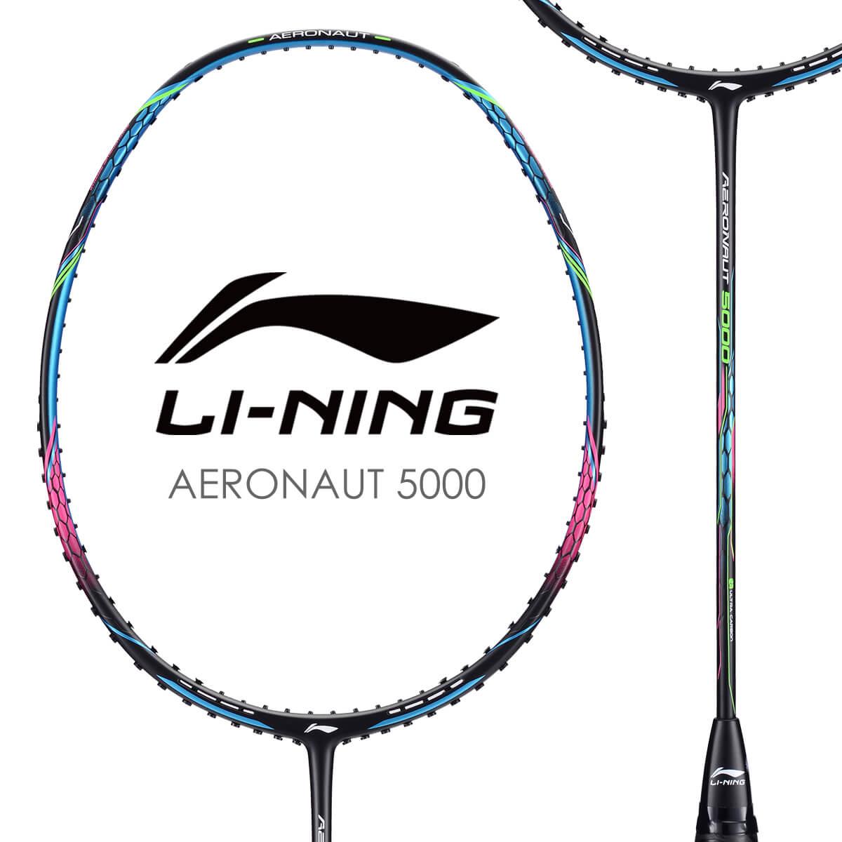 新作 LI-NING AERONAUT 5000 AN5000 マート 風洞設計 バドミントンラケット ガット張り工賃無料 リーニン オススメガット