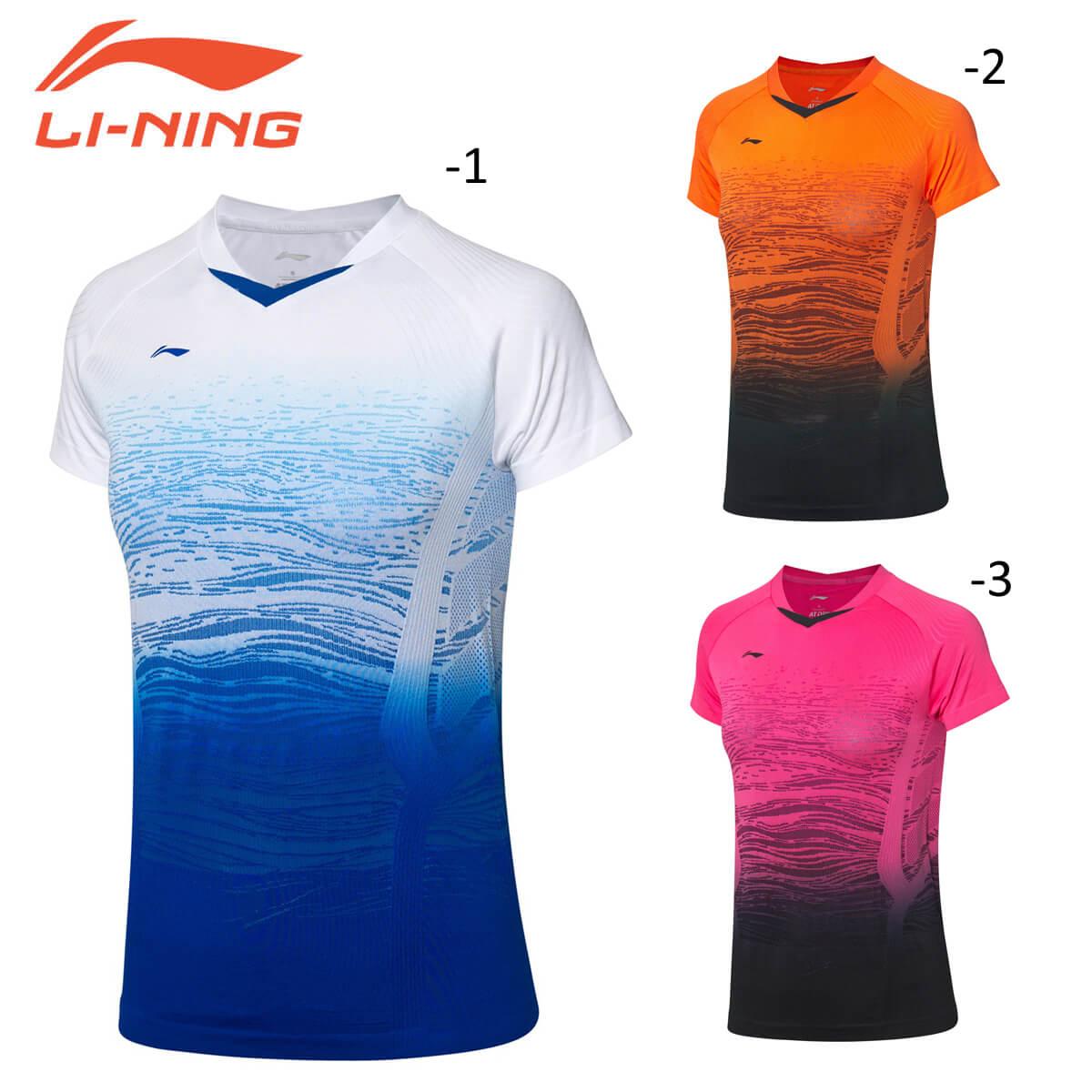 LI-NING AAYP118 中国ナショナルチーム 卸直営 ゲームシャツ メール便可 リーニン レディース アイテム勢ぞろい バドミントンウェア