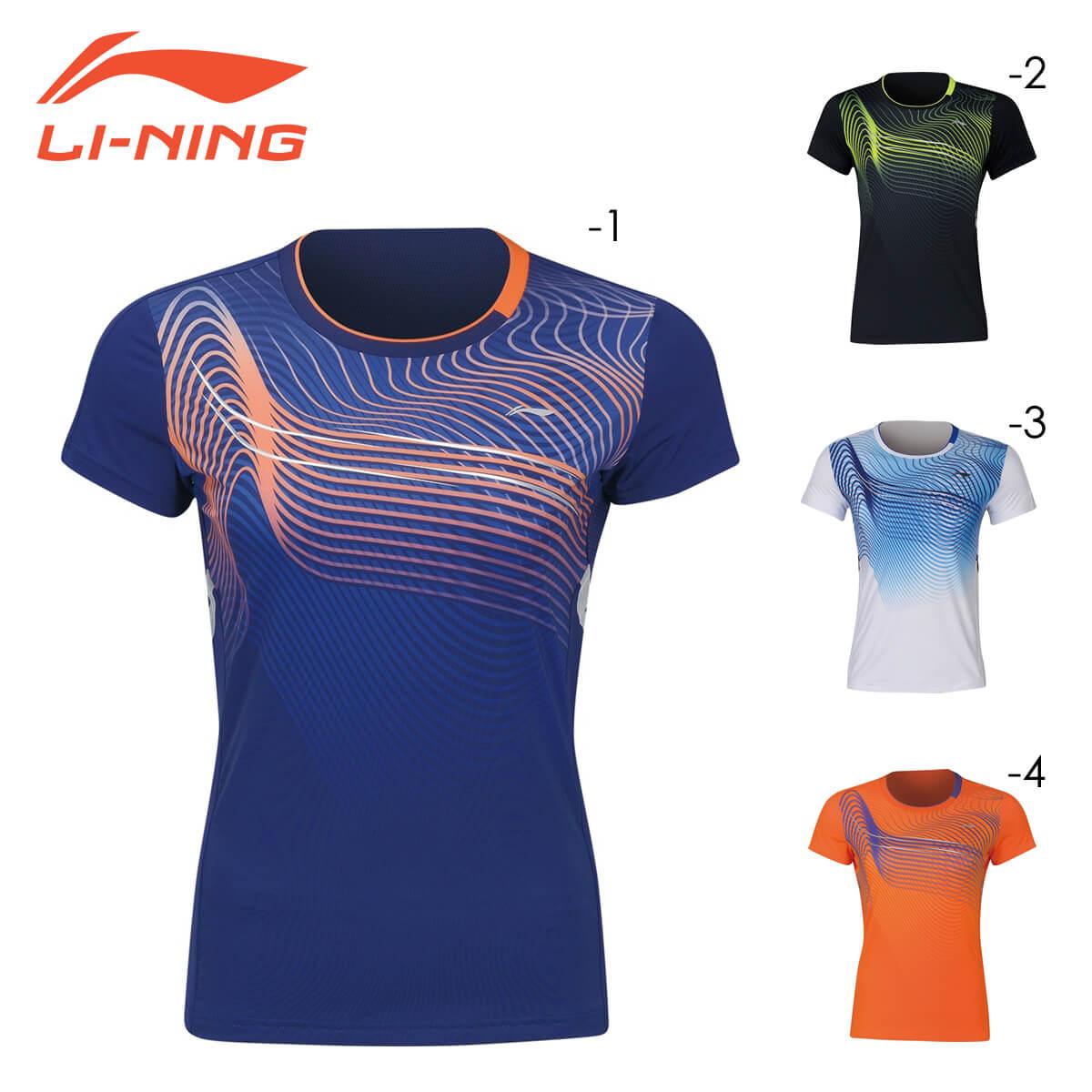 LI-NING AAYQ086 ゲームシャツ レディース 期間限定で特別価格 中国ナショナルチーム バドミントンウェア 日本バドミントン協会審査合格品 リーニン 蔵 メール便可