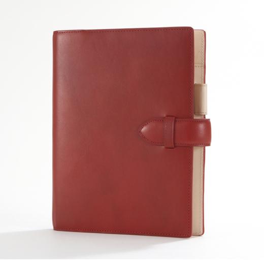 【本革】【プレゼント】【ビジネス】アシュフォード ASHFORDシステム手帳 キュリオ A5サイズ3080-044 レッド(お取り寄せにてお伺い致します。)