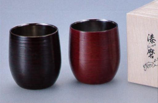 漆磨shi-ma 【曙】【根来】2重ロックカップ(1客)