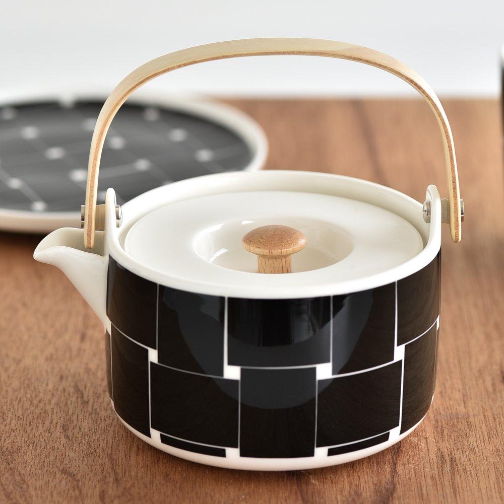 【marimekko】Basket(バスケット) ティーポット ブラック /コップ ティー用品 紅茶 マリメッコ