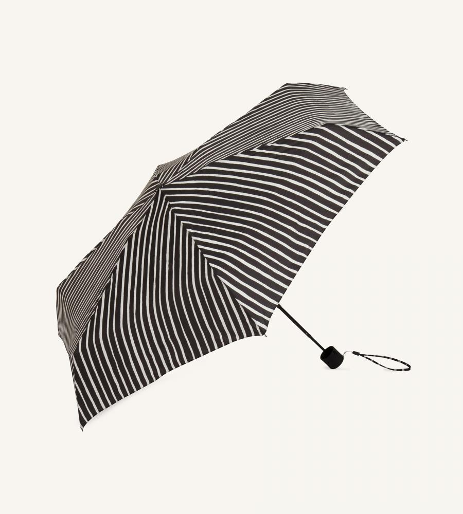 【marimekko】Piccolo(ピッコロ)折りたたみ傘 ブラック /レイングッズ 収納 マリメッコ