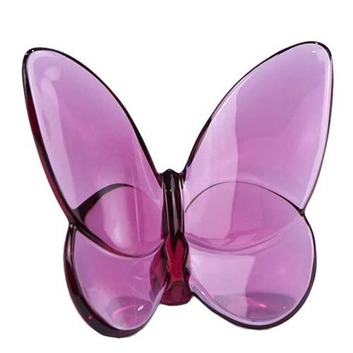 北欧 メーカー再生品 ガラス 磁器 陶器 シンプル 耐久性 プレゼント Baccarat フィギュア 置物 日本産 2102-548 ラッキーバタフライ パピヨン パープル ピオニー 紫 バカラ