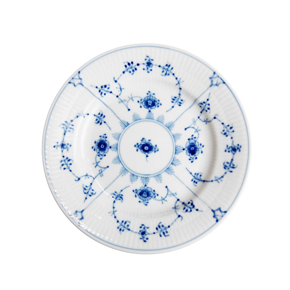 北欧 ガラス 食器 ブランド ブランド食器 ホワイト 大放出セール 年末年始大決算 白 ロイヤルコペンハーゲン Royal 皿 プレート プレーン ブルー 101-617 17cm 青 Copenhagen