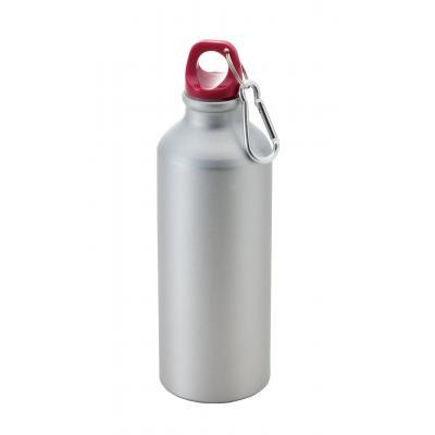 【フィールドデイ アルミボトル500ml/1カートン (48個)】持ち運びに便利な軽量なアルミボトルです。カラビナ付 バッグ ベルトループ 携帯 シンプル
