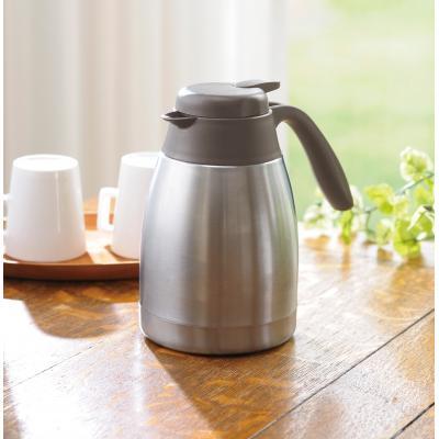 【真空ステンレス卓上ポット800ml /1SKU(24個)】家でもお店でも大活躍!二重構造 テーブル カフェ お茶 コーヒー 紅茶 冷水