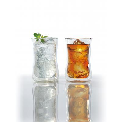 【ダブルウォールタンブラーペアセット/1SKU(24組)】感謝が伝わる「逸品プレミアム」。グラス 二重構造 耐熱ガラス製 結露 付きにくい 熱くない 温令両用
