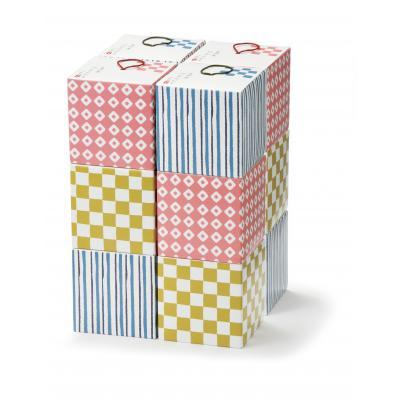 【泉州産はんどたおる二枚組/1SKU (72組)】ころんとかわいい和テイストのキュービックボックスに入った、大阪・泉州タオル。ディスプレイ インテリア 和柄 日本製 国産