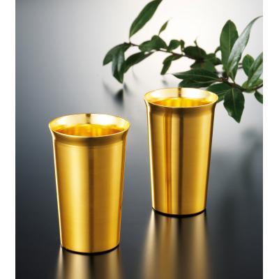 【金色のペアタンブラーセット/1SKU(60組)】ペア セット 金色 ゴールド タンブラー 結婚 両親 結婚記念日 プレゼント