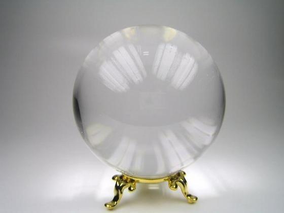 【球体】水晶Φ71mm金属製台座付き